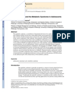 Menstrual Health and the Metabolic Syndrome in Adolescents