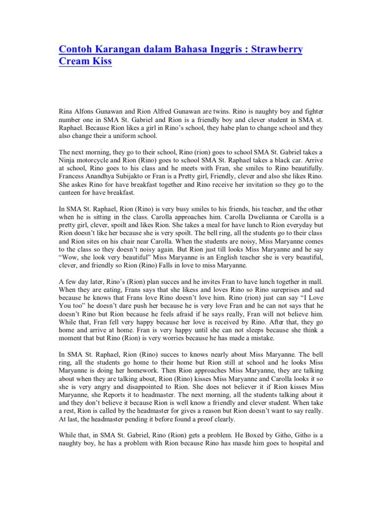 Contoh essay bahasa inggris beer thesis statement