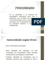 REQUISITOS DE AUTOCUIDADO enfermeria 2do año