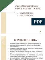 EFECTUL ANTICANCERIGEN BOABELOR ŞI LAPTELUI DE SOIA