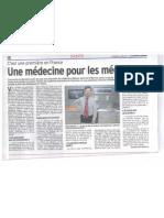20110401 - Courrier Cauchois - Une médecine pour les médecins