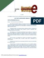 Ley de Planificacion Urbana - MSJ