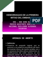 Hemorragias Primera Mitad Embarazo