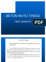 BETON MUTU TINGGI