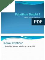 Pelatihan Delphi 7