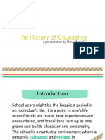 The History of Counseling