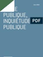 Dette publique, inquiétude publique - Jérôme Fourquet