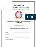 EC76-Electronics System Design Lab