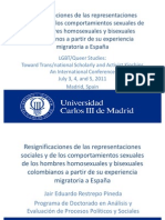 Presentación LGBT/Queer Studies:Toward Trans/national Scholarly and Activist KinshipsAn International Conference