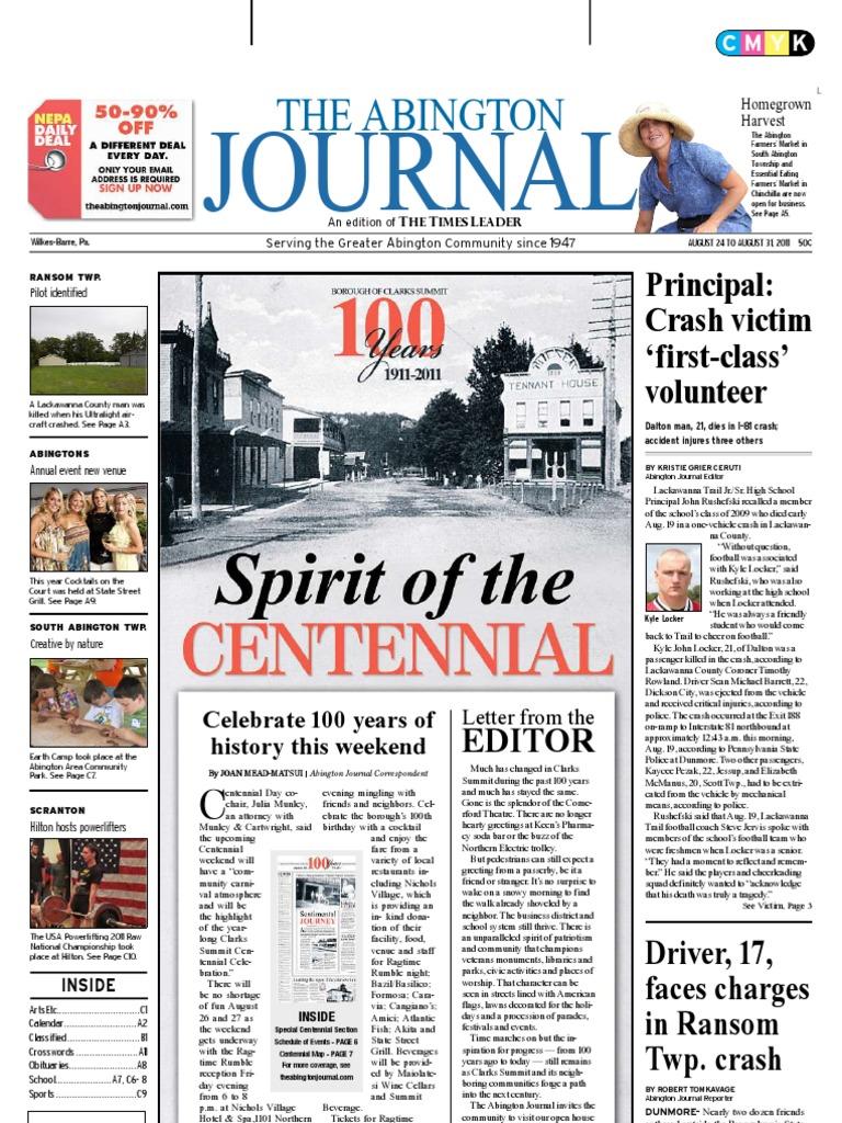The Abington Journal 08-24-2011 | Scranton | Amtrak