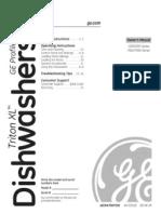 GE Dishwasher Customer Manual for GSD6900N10BB