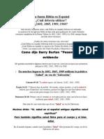La Santa Biblia en Español - ¿Cuál debería utilizar?