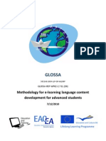 2.1 Methodology for E-learning Language Content Development for Advanced Students