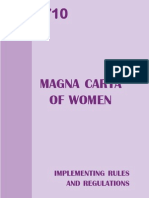 Ra 9710 Magna Carta for Women With Implementing Rules (Irr)