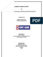 Summer Training Hdfc Bank