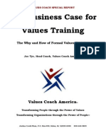 The Business Case for Values Training