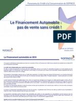 Financement Automobile 2010
