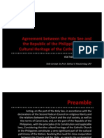 ARCH412-Holy See and RP Agreement on Church Cultural Heritage