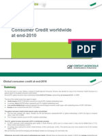 Consumer credit worldwide at end-2010