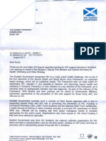 Michael Matheson Letter on Funding for HIV Support Services