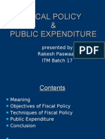 Fiscal Policy and Public Expn