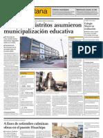 Solo cinco distritos asumieron municipalización educativa