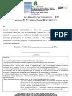 Documentação de atualização PAE