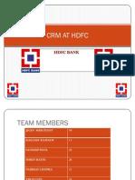 CRM AT HDFC