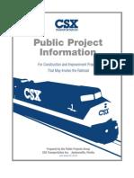 CSX Transportation - Public Project Information