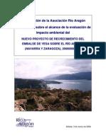 Yesa. Alegaciones Consulta Ambiental 2008