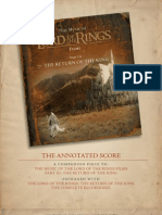 The Return of the King Adnotated Score