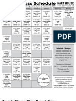 Fitness Class Schedule @ Hart House for September 08