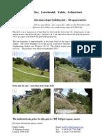 Fishbiel - Wiler - Lotschental Information Pack - July 2011