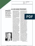 Privatizzazioni, una riflessione di Franco D'Alfonso.