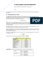 Ship Design - Main Dimensions