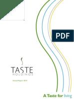 TASTE Annual Report