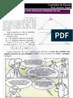 Apostila Soma das Medidas dos Ângulos Internos de um Triangulo - Versão  Aluno