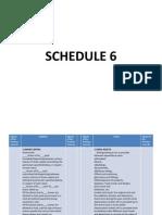 Schedule 6