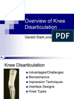 Overview of Knee Dis Articulation