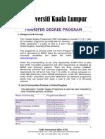Unikl Transfer Degree Programs 2010