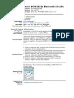 UT Dallas Syllabus for ee3311.501.11f taught by Murat Torlak (torlak)