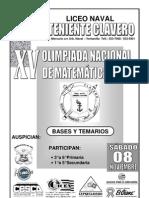Bases de La XV Olimpiada Nacional de a 2008