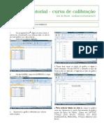 Tutorial curva de calibração Excel 2007