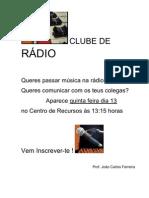 CLUBE DE RÁDIO -apresentação