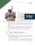 Living Below the Line - Bible Study