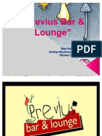 Diapositivas de Previus Bar & Lounge.