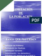 DELIMITACIÓN DE LA POBLACIÓN