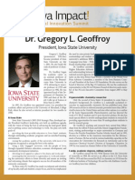 Dr. Gregory L. Geoffroy - biography for Iowa Impact Medical Innovation Summit