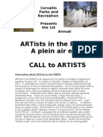 ARTists in the PARKS Info Sheet-1