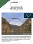 Chenab River Railway Bridge - Highest Bridges